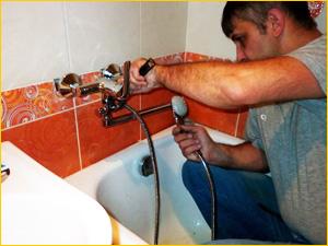 Помощь в замене и смесителя в ванной