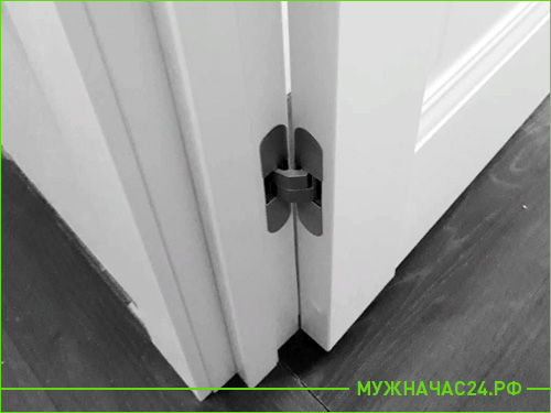 Скрытая дверная петля для межкомнатной двери