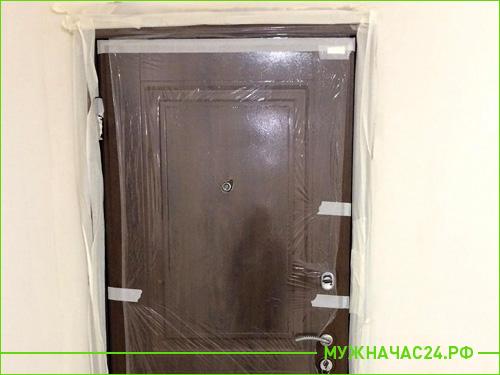 Результат установки входной двери в квартиру