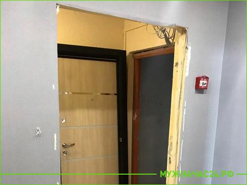 Начало работы, проем без входной двери