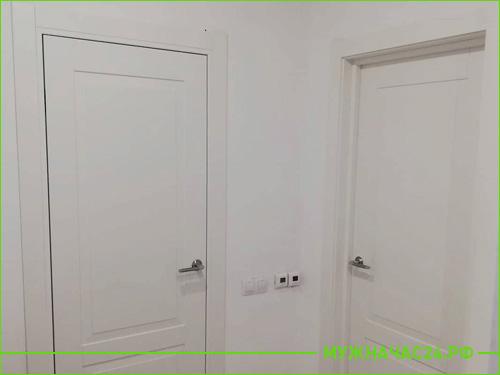 Установка двух межкомнатных двери в квартире