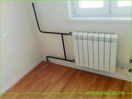Замена труб стояка вместе с радиатором отопления