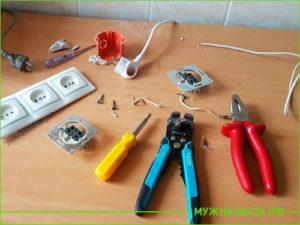 Рабочий инструмент домашнего мастера на столе