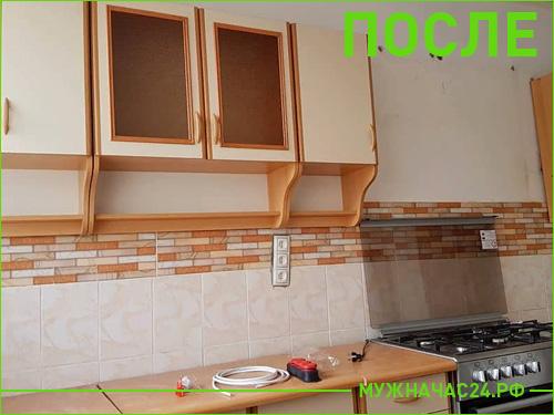 Результат установки кухонного гарнитура на стену